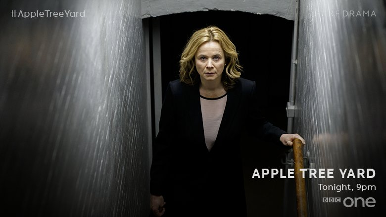 Fear makes animals of us all. #AppleTreeYard. Tonight at 9pm on @BBCOn...