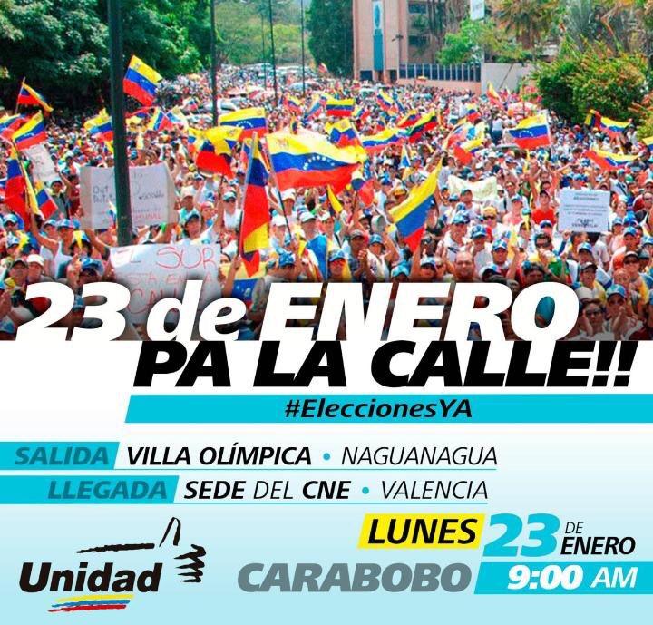 #Carabobo Mañana pa' la Calle #23 https://t.co/czio849s0u