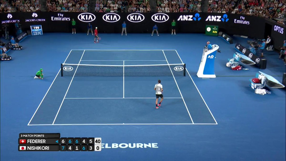 #Federer through to the quarterfinals! #AusOpen https://t.co/Trk7Oto2q...