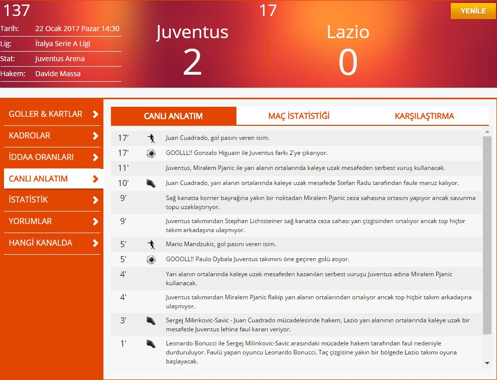 Juventus, 17 dakikada Dybala ve Higuain ile Lazio'yu esir aldı.  📌CANL...