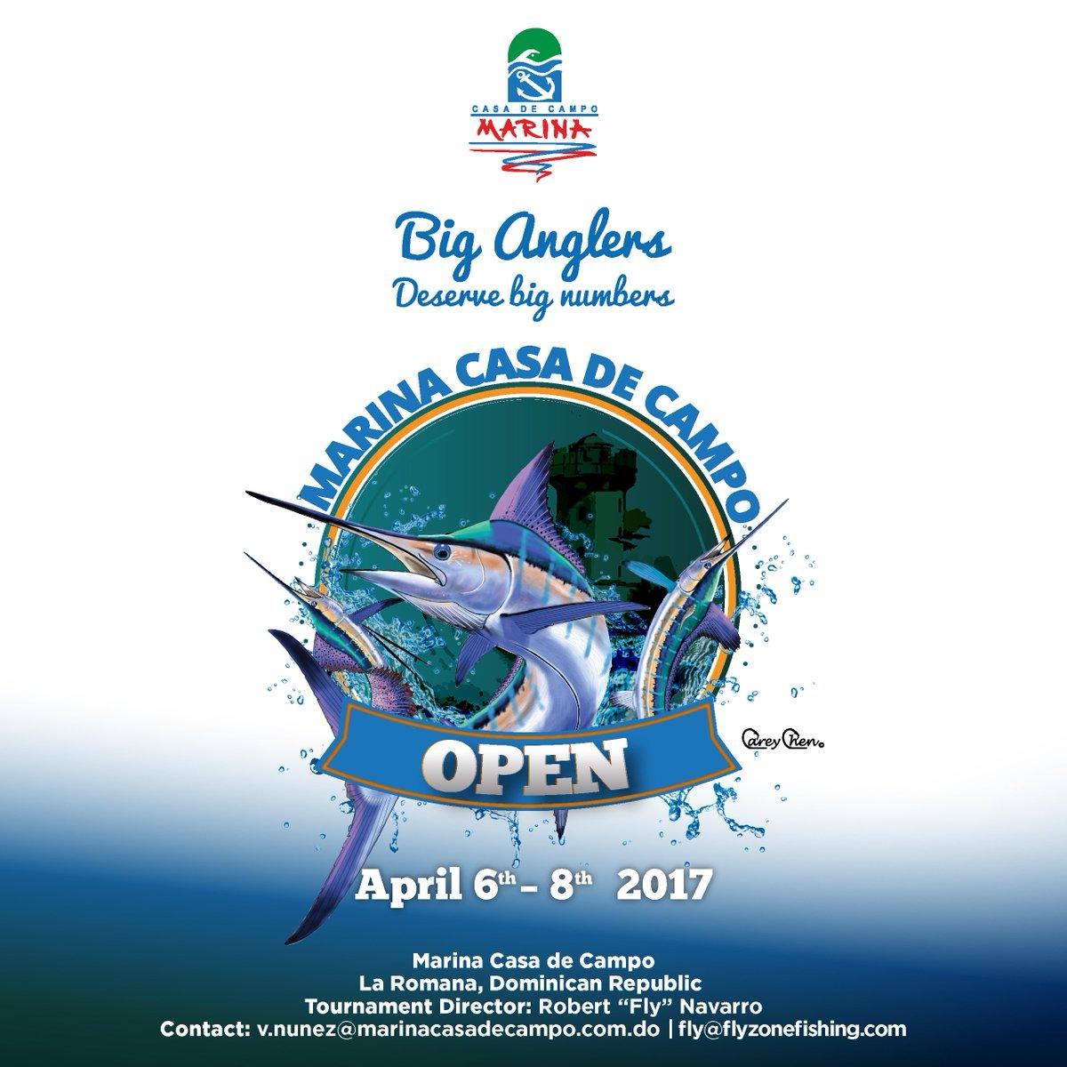 Marina Casa de Campo Open April 6-8, 2017. Big Anglers Deserve Big Numbers. https://t.co/KNunMZkKVi