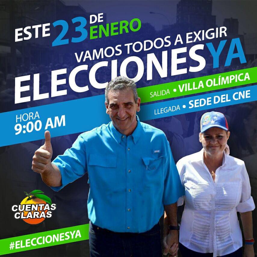 #Carabobo | Mañana #23E Vamos todos al CNE a exigir #EleccionesYa | Pu...