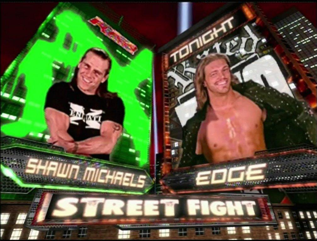 #OnThisDay - @ShawnMichaels vs @EdgeRatedR on #RAW - January 22nd, 200...