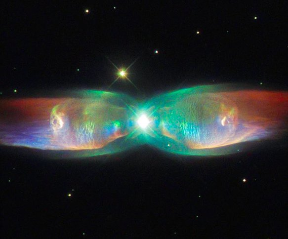 This cosmic butterfly is called the Twin Jet Nebula!