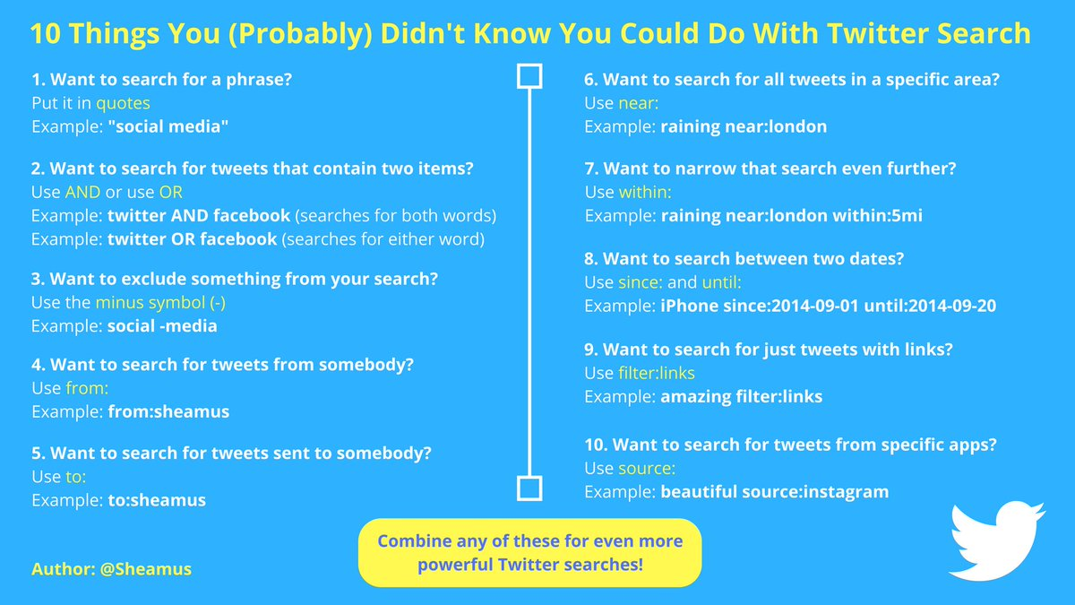 10 things you (probably) didn't know you could do with #Twitter search! https://t.co/nKFChYLh6t