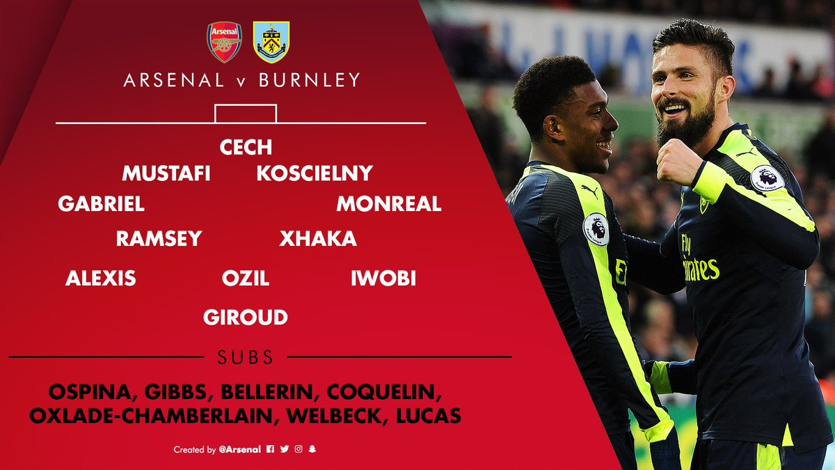 An hour to go... and that means we can reveal our team for #AFCvBFC ht...