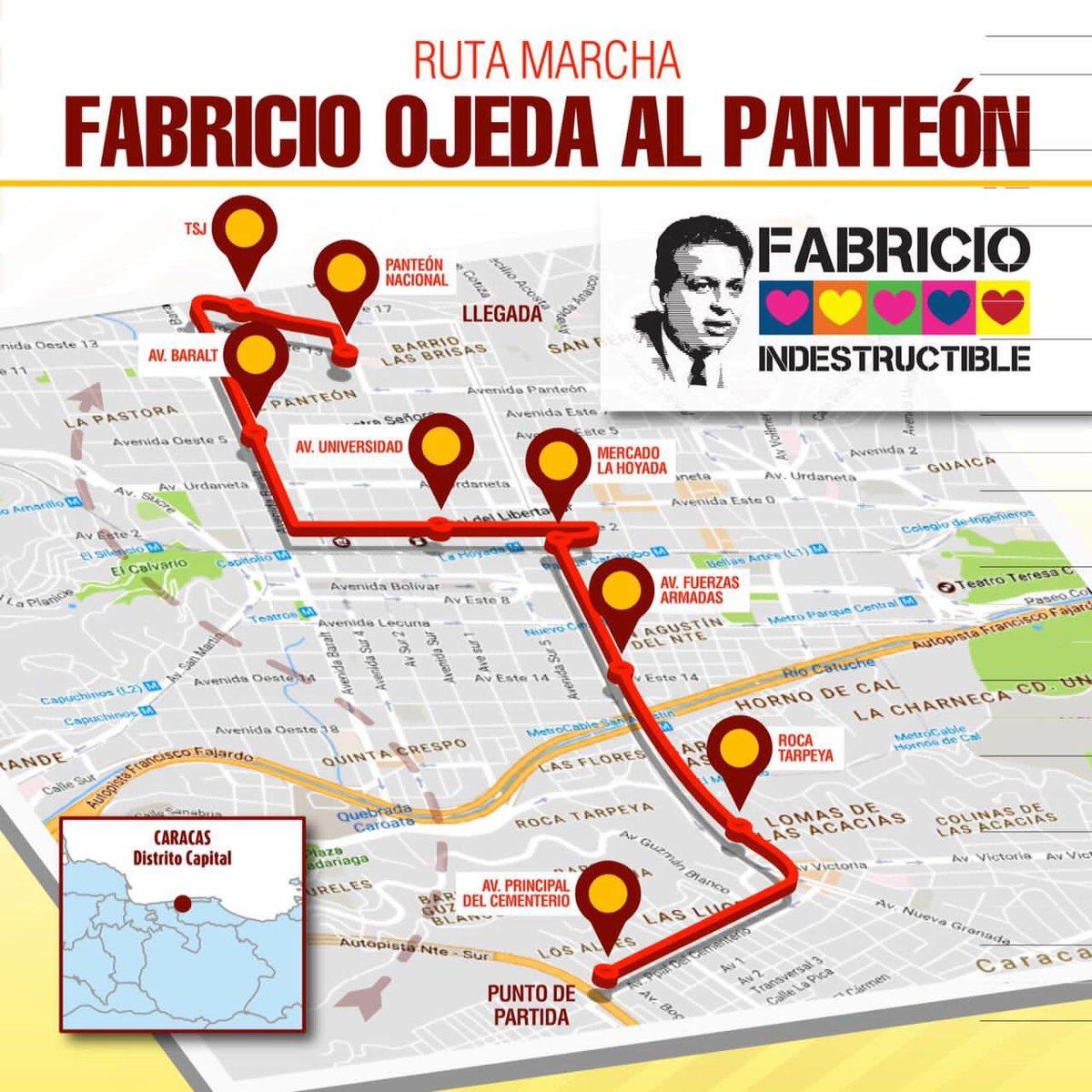¡Con FABRICIO OJEDA hasta el Panteón! #AQUÍ la ruta de nuestra moviliz...