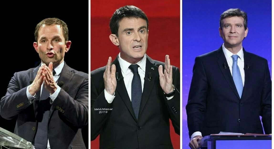 =&gt;#BREAKING #PrimaireGauche   Confirmation par #LeSoir en premières projections : #Hamon 35%, #Valls 30%, #Montebourg 25%.<br>http://pic.twitter.com/awDKJyABkA