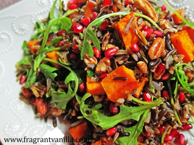 Roasted Sweet Potato Wild Rice Salad