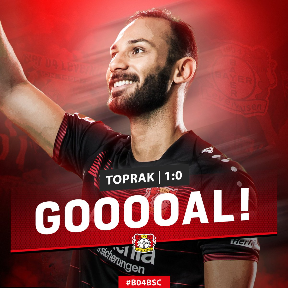 12' GOOOOOOOOOAAAAAAL!   Ömer #Toprak makes it 1:0!  #B04BSC https://t...