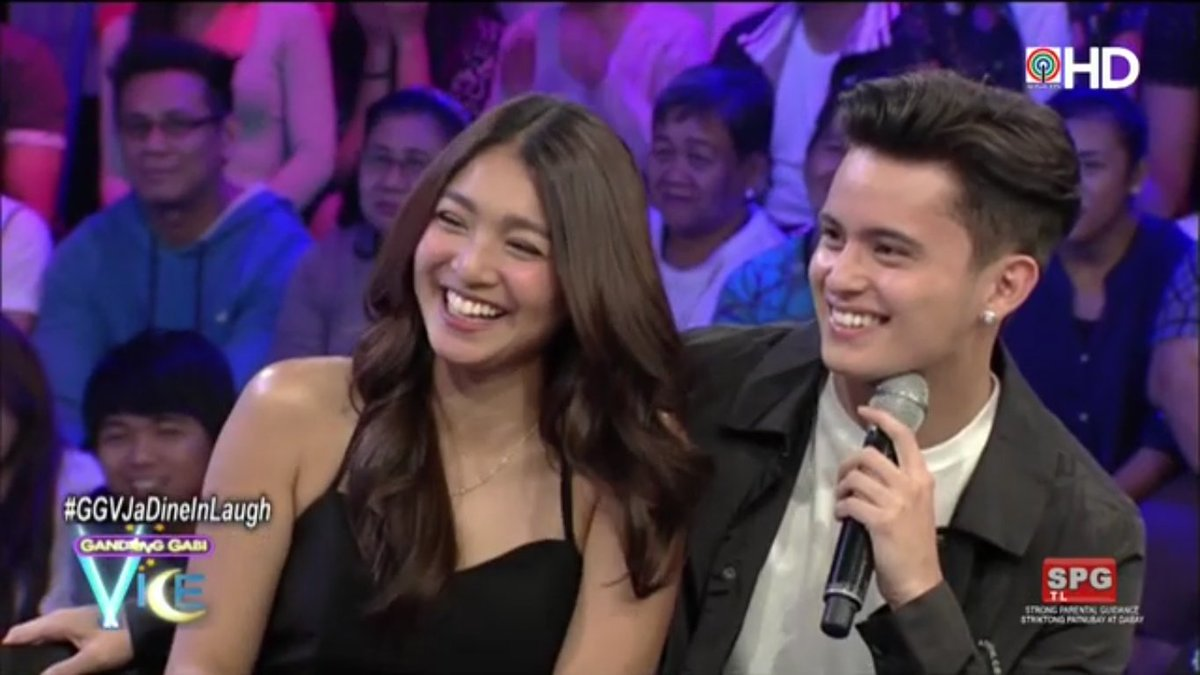 Uber kilig talaga ang #JaDine!  #GGVJaDineInLaugh via ABS-CBN HD on iW...