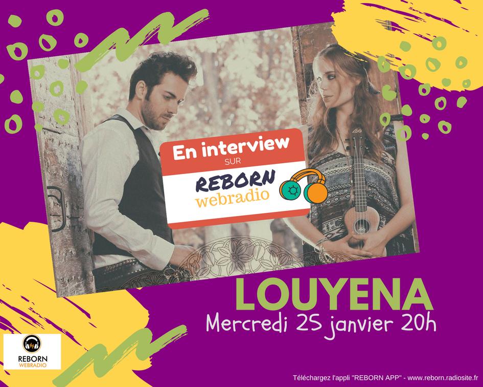 à ne pas manquer mercredi #20h avec @louyenaofficiel #interview #music pour nous écouter : http:// reborn.radiosite.fr/players-1  &nbsp;   #Appli #REBORNAPP #radio <br>http://pic.twitter.com/jNGxfNR9UP