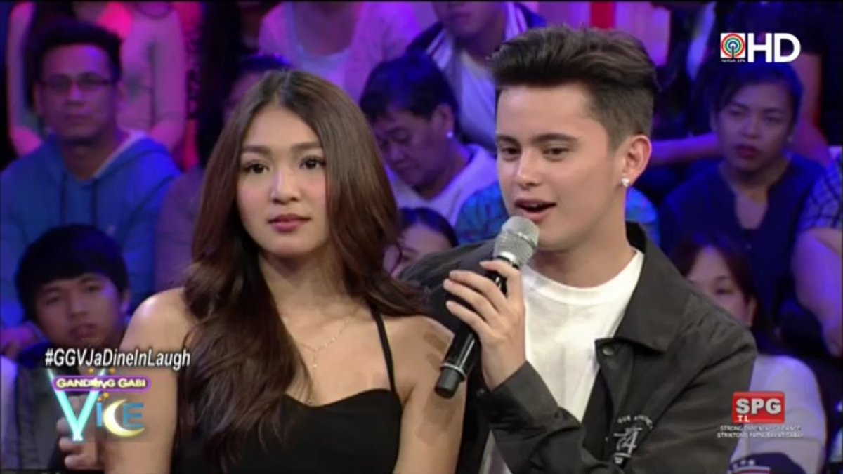 James: I can be myself when I'm with her.  #GGVJaDineInLaugh via ABS-C...