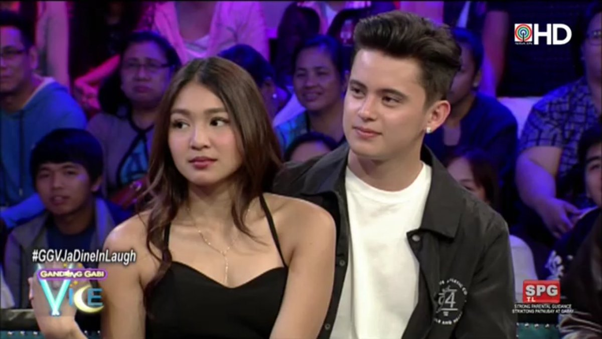 Sweetness overload lang ang #JaDine.  #GGVJaDineInLaugh via ABS-CBN HD...