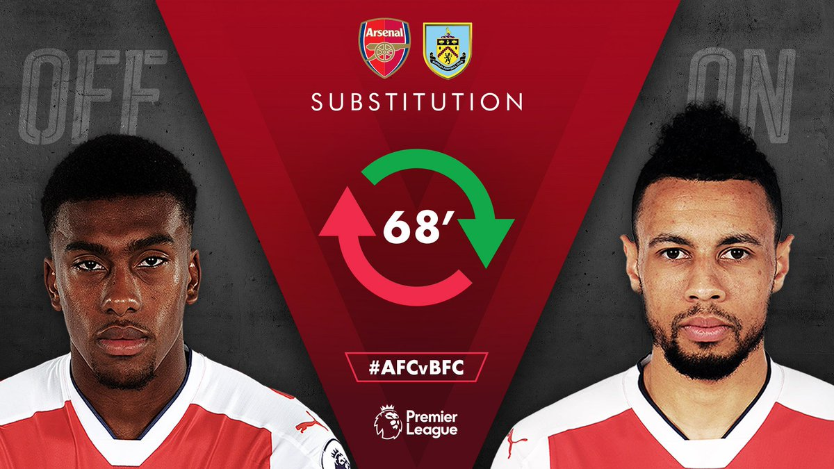 Pergantian pemain: Coquelin masuk menggantikan @alexiwobi  #AFCvBFC 🔴1...