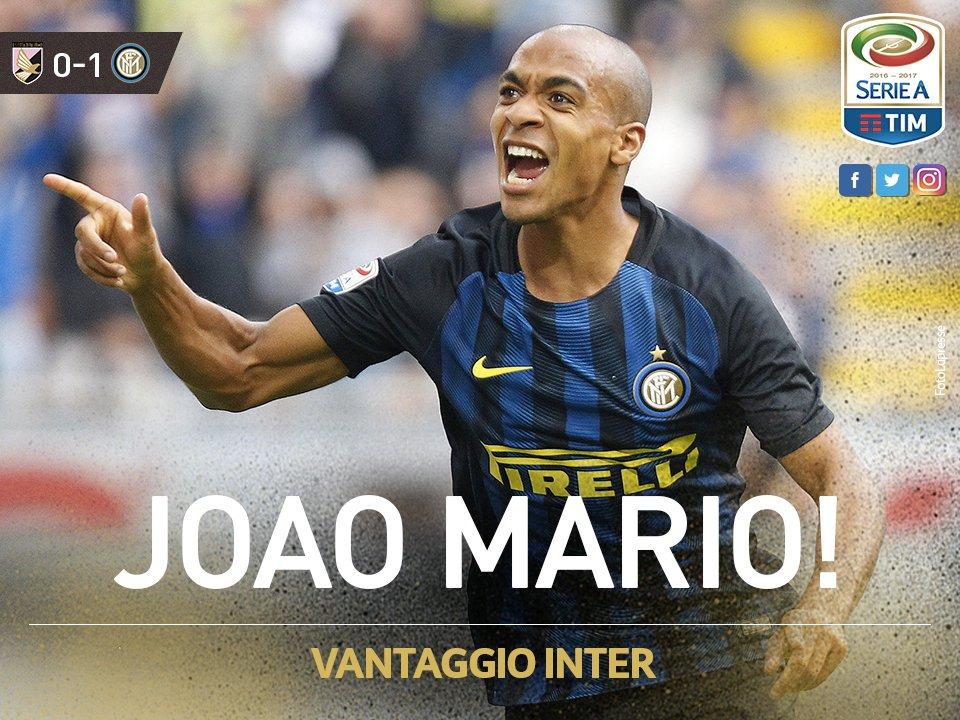 #LiveBolanet FT: Palermo 0-1 Inter (65' Mario)   Possessions: 39%-61%...