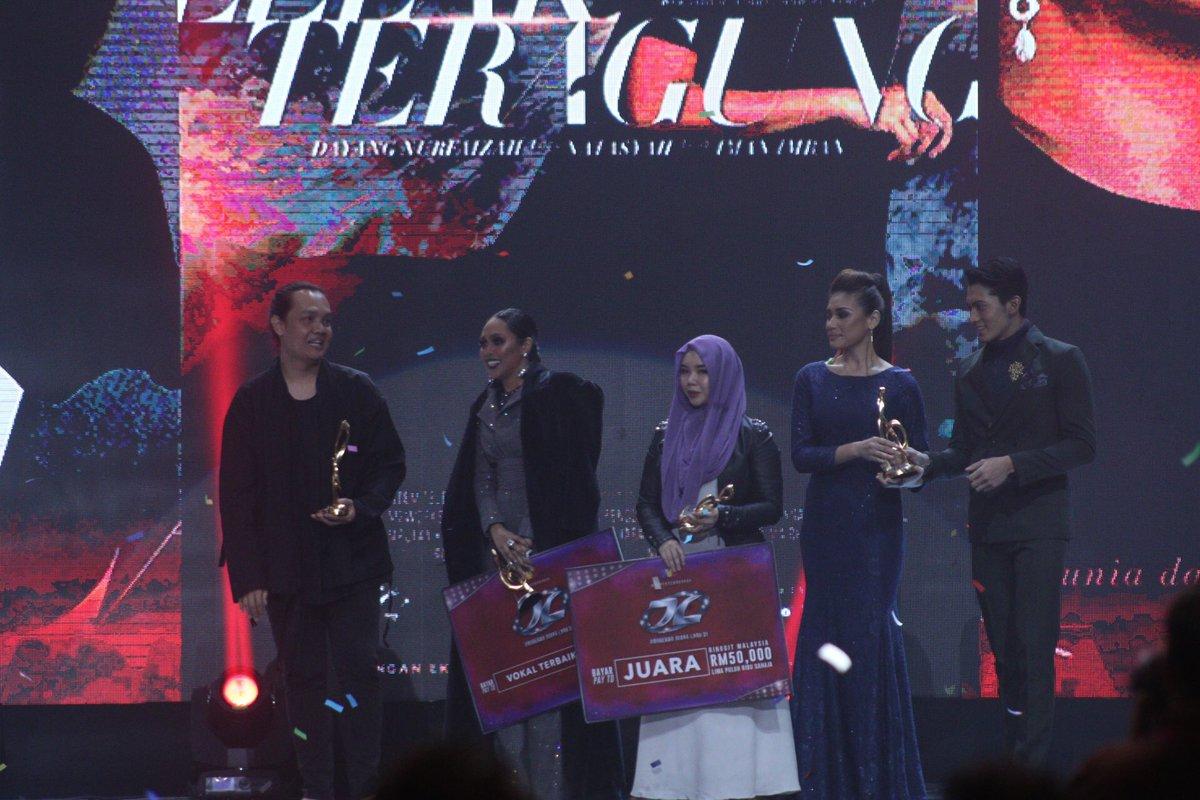 Keputusan Anugerah Juara Lagu ke-31. Tahniah semua! #AJL31 https://t.c...