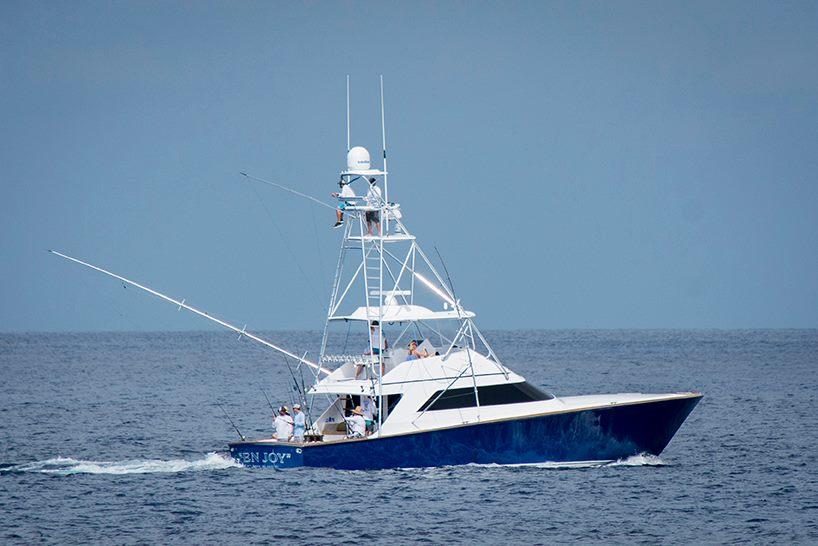 Los Suenos, CR - Capt. Andy Helms and Team En Joy released 7 Striped Marlin & 6 Sailfish. They had a sextuple of Striped Marlin.