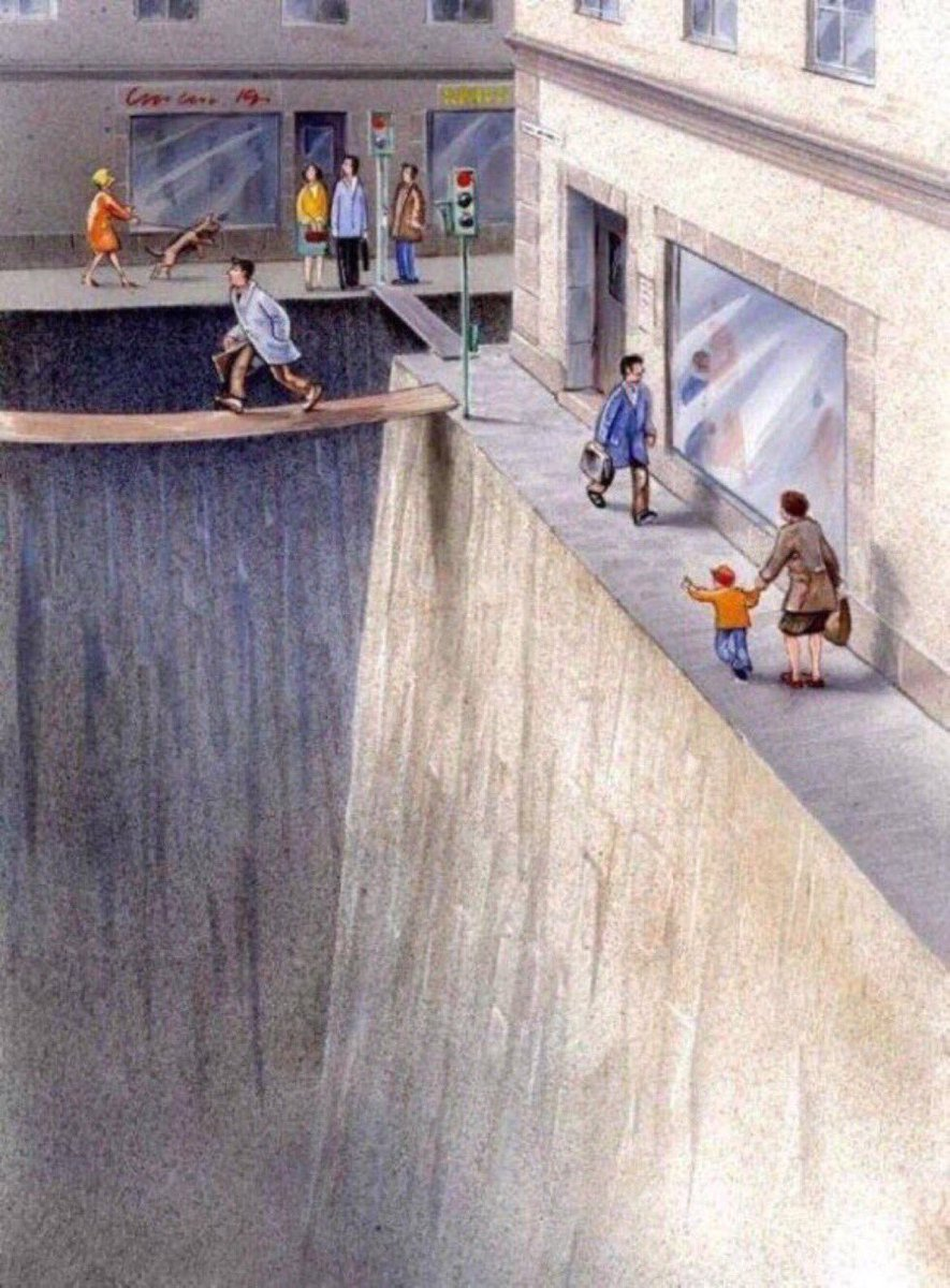 A brilliant illustration of how much public space we've surrendered to...