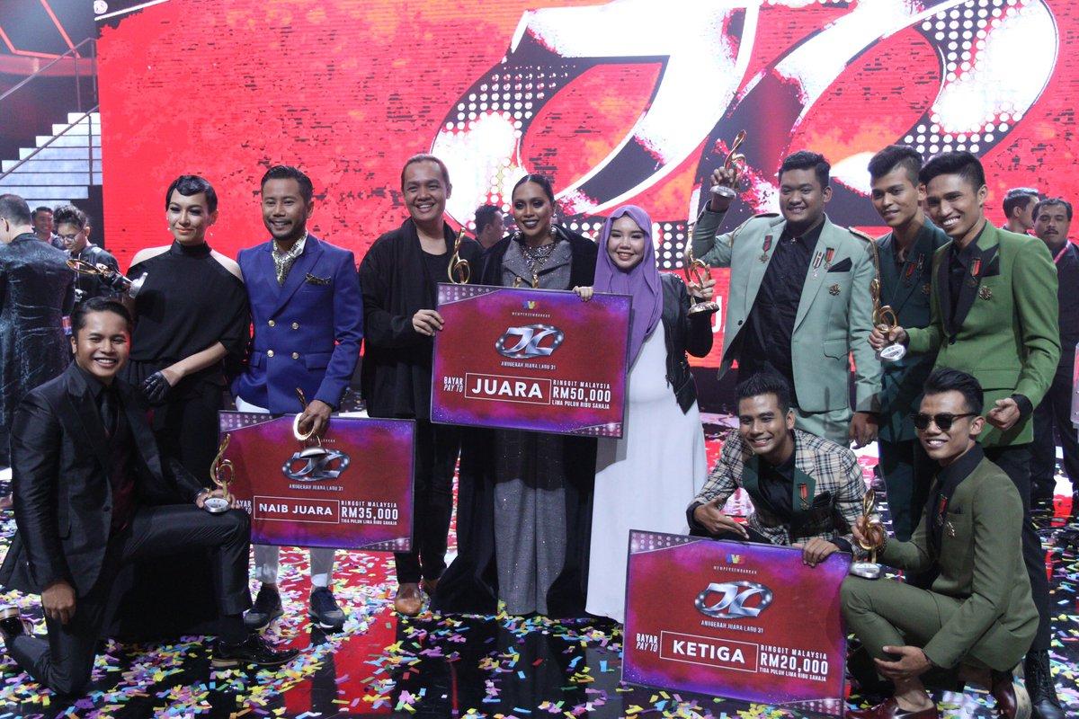Tahniah buat semua pemenang-pemenang Anugerah Juara Lagu ke-31. Terbai...