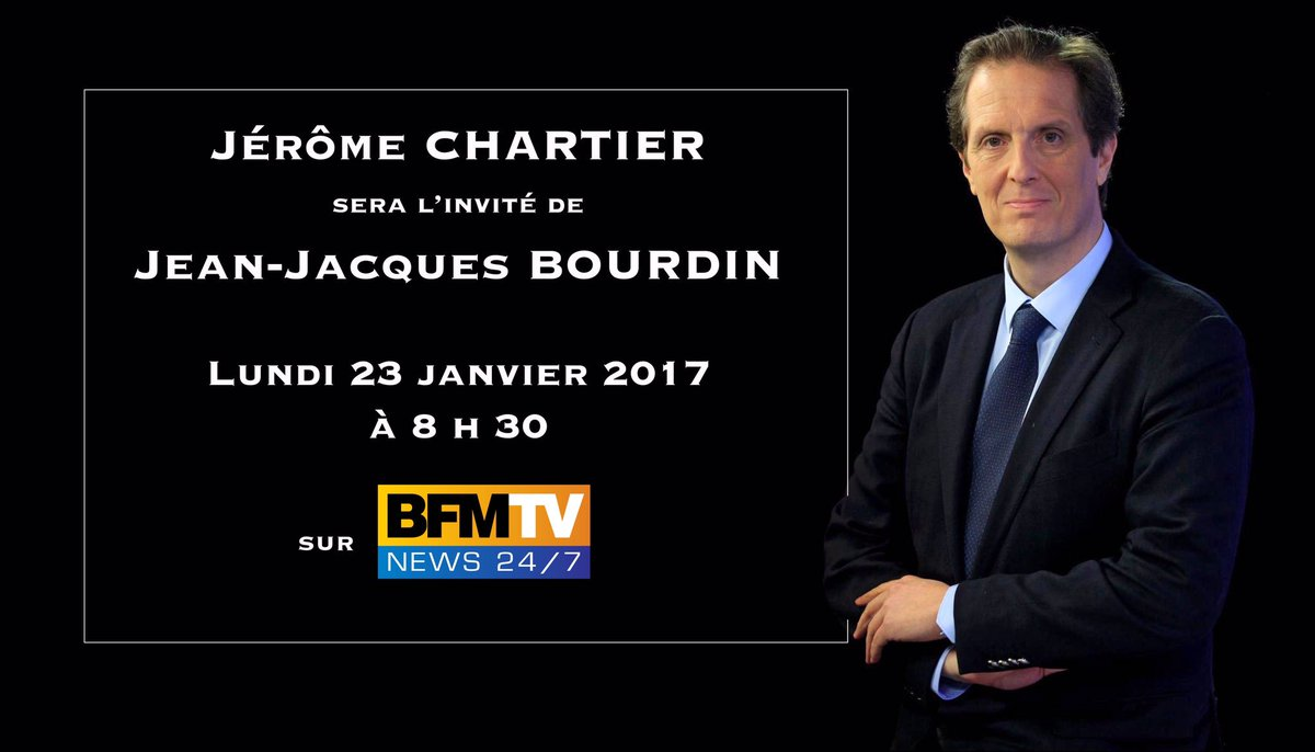 Je serai l&#39;invité de @JJBourdin_RMC demain matin à 8h30 en #Direct sur @RMCinfo @BFMTV.  #Fillon2017 #BourdinDirect<br>http://pic.twitter.com/aAKAjmQ91s