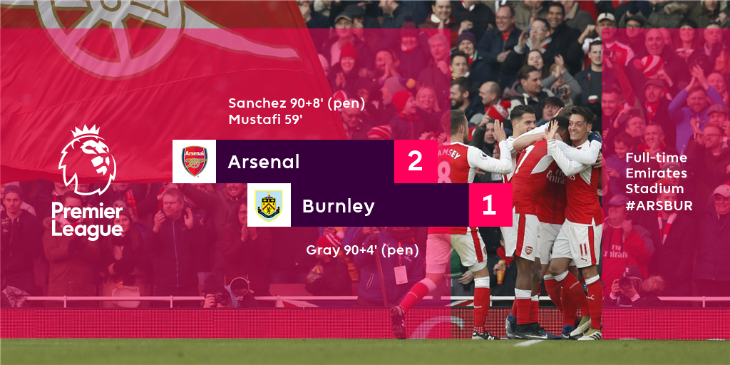 Arsenal go 2nd in the #PL after a breathtaking finish to a thrilling m...