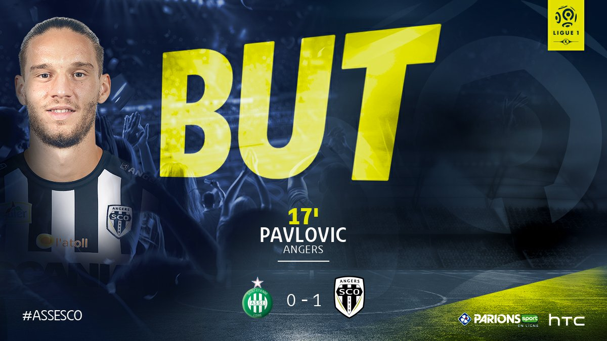 J21 - @ASSEofficiel  / @AngersSCO  : But de Mateo Pavlovic (0-1) → htt...