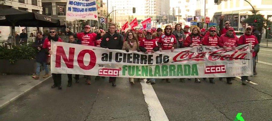 VÍDEO | Los empleados de Coca-Cola en Fuenlabrada se manifiestan para...