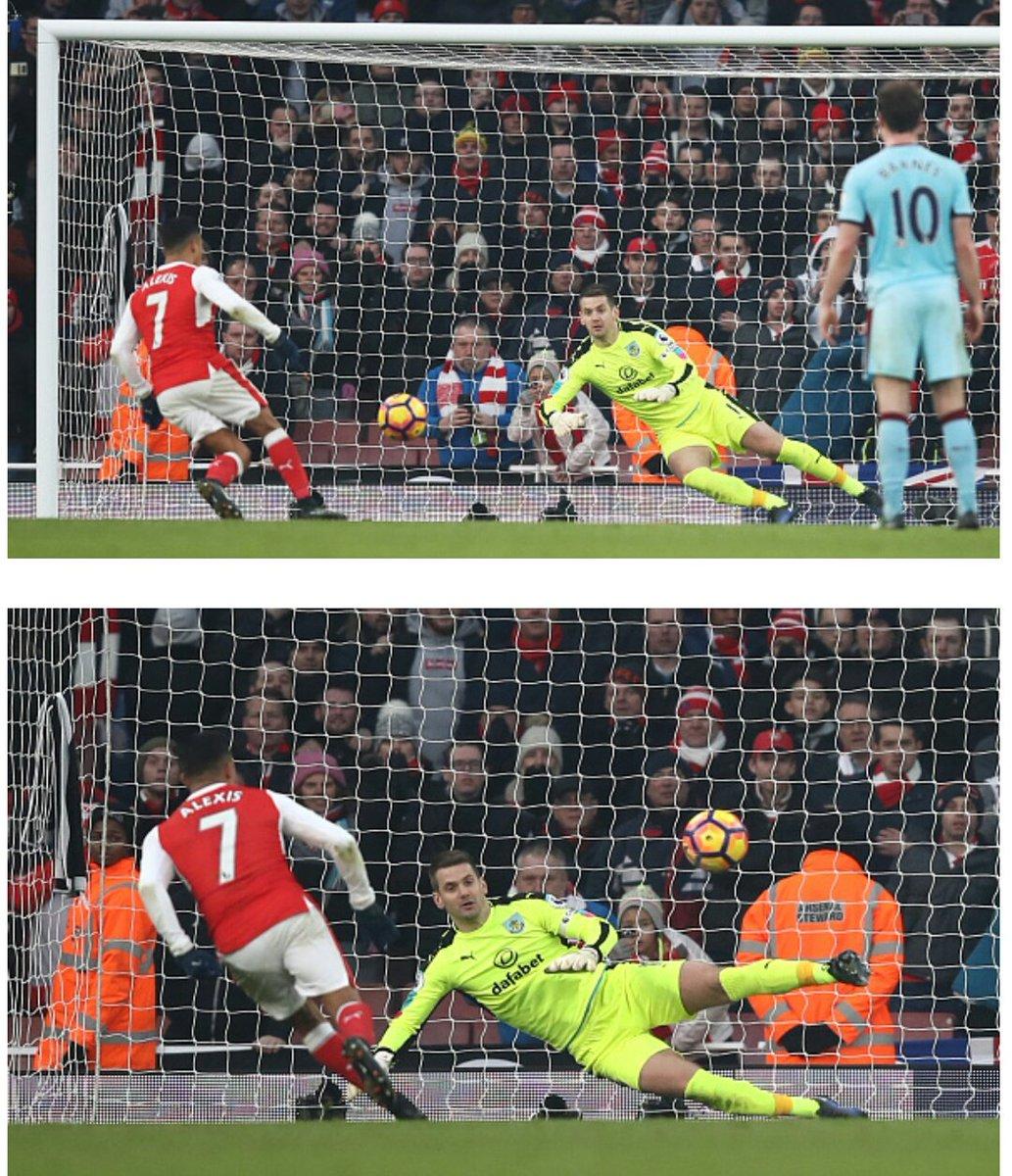 MIN 95. Empatan Arsenal y Burnley. Penal para Arsenal para la victoria...
