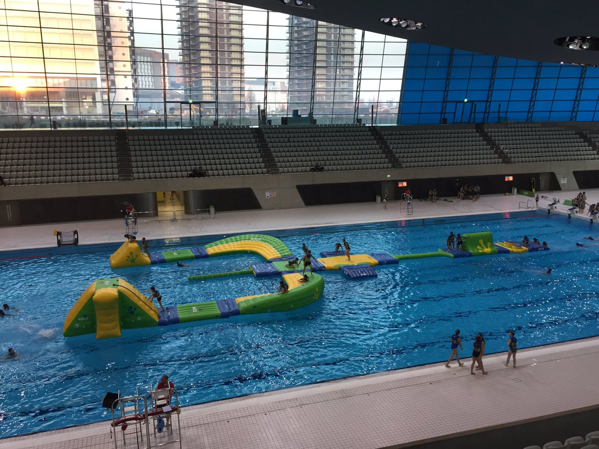 trivandi on twitter london olympic pool legacy 40m inflatable obstacle courseaquaticscentre londonlegacy olympics httpstco131mprehsv