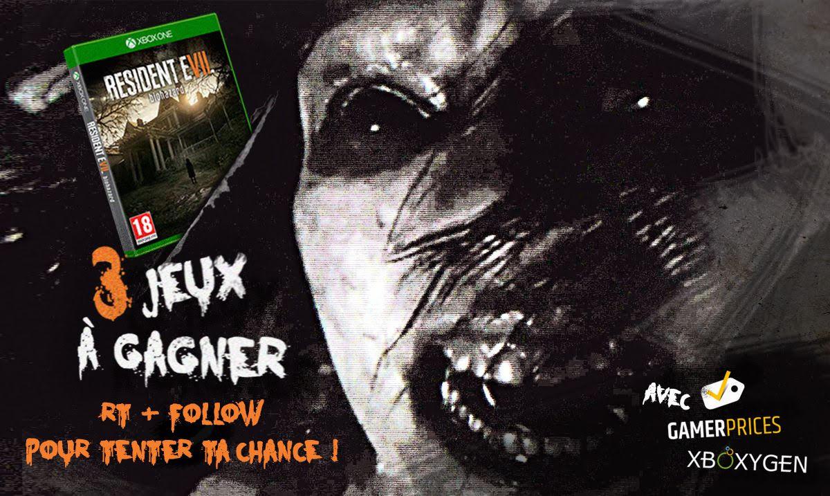 #Concours ! Tentez de remporter Resident Evil 7 sur #XboxOne ! RT &amp; Follow pour participer  http://www. xboxygen.com/News/24241-Con cours-3-jeux-Resident-Evil-7-a-gagner &nbsp; …  #ResidentEvil7<br>http://pic.twitter.com/NMH2jRz1uU