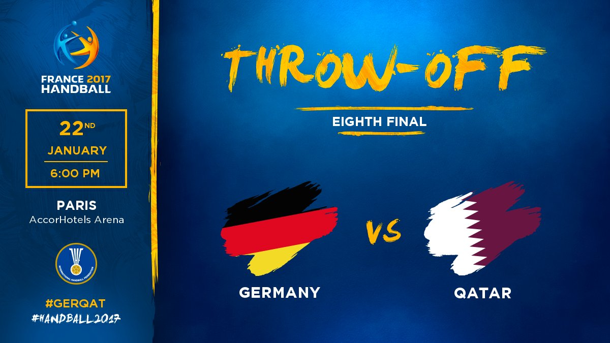 Game is on in the 3rd eighth final of the day #GERQAT  #Handball2017 #...