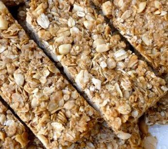 Peanut-Butter Granola Bars