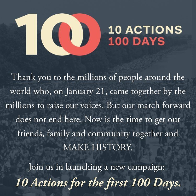 There's still a lot of work to do... I'm committing to #100daysofaction #womensmarch #wom… https://t.co/zDUcOryoj5 https://t.co/Obvxd6vr1M