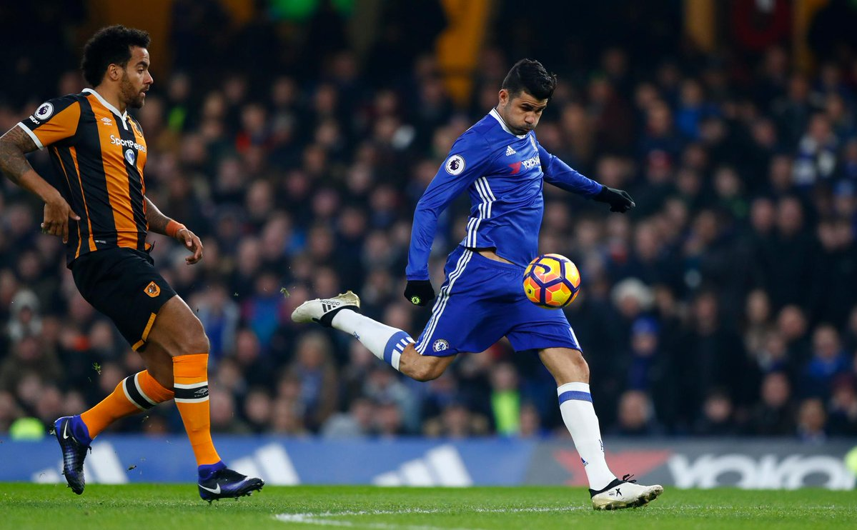 #LiveBolanet HT: Chelsea 1-0 Hull City (45+7' Costa)   Possessions: 63...