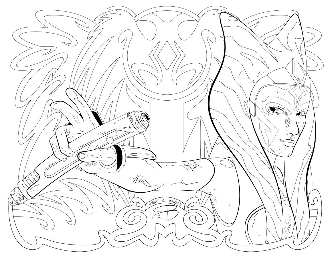 ahsoka tano colouring pages by ryan brock u2013 team ahsoka