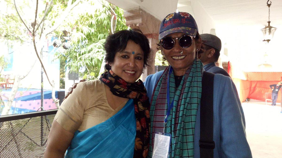 Taslima Nasreen On Twitter With Bangladeshi Fashion Designer Bibi Russell Today