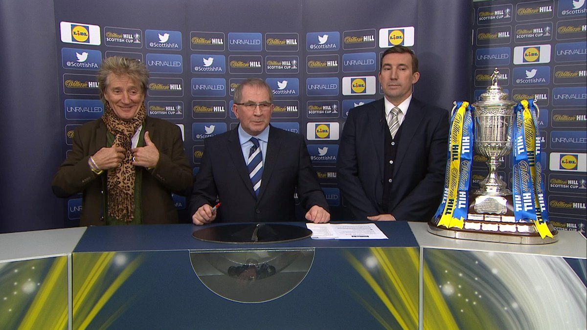 WATCH: Sir Rod Stewart does the Scottish Cup draw - and he's VERY enth...