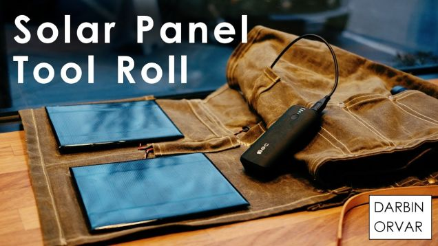 Make Your Own Tool Roll With Built-In Solar Charging
