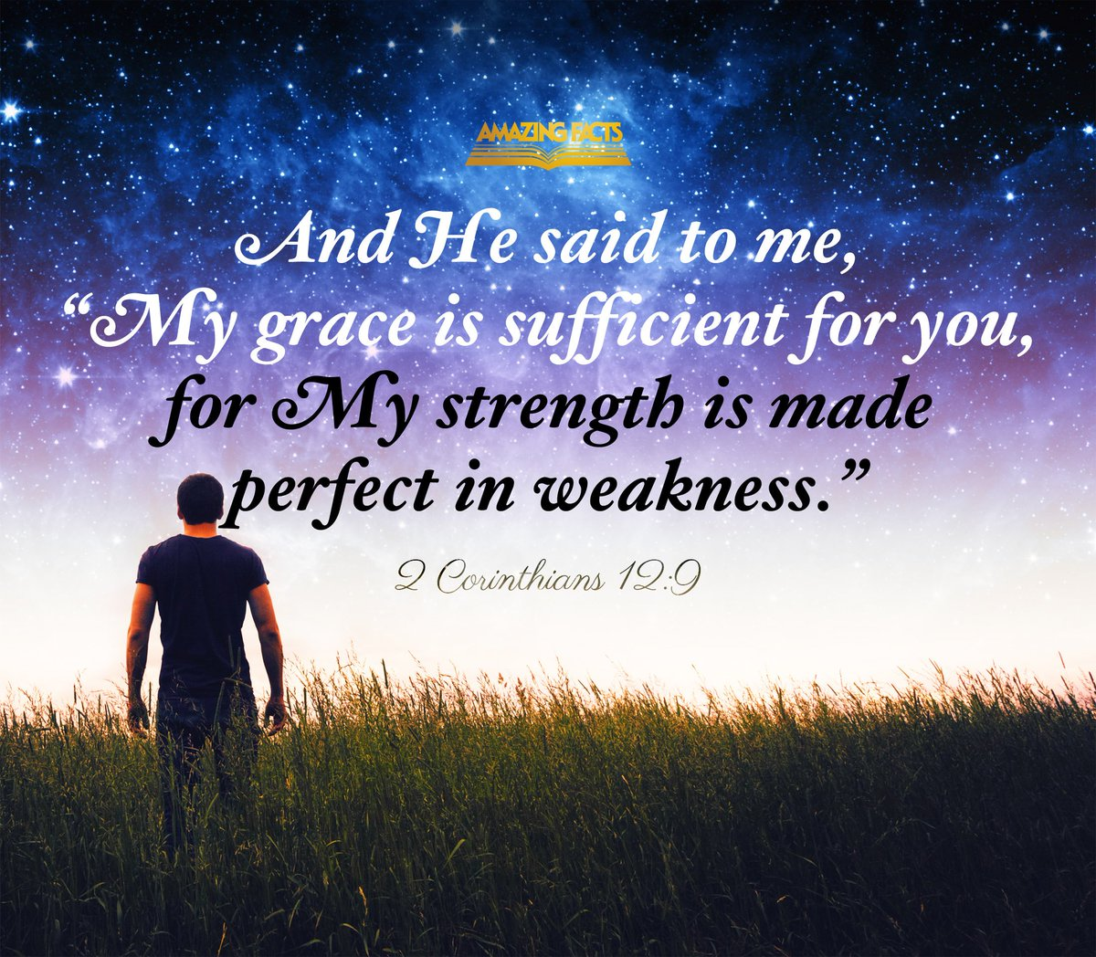 His grace is sufficient. Count on it this week. #ScripturePicture