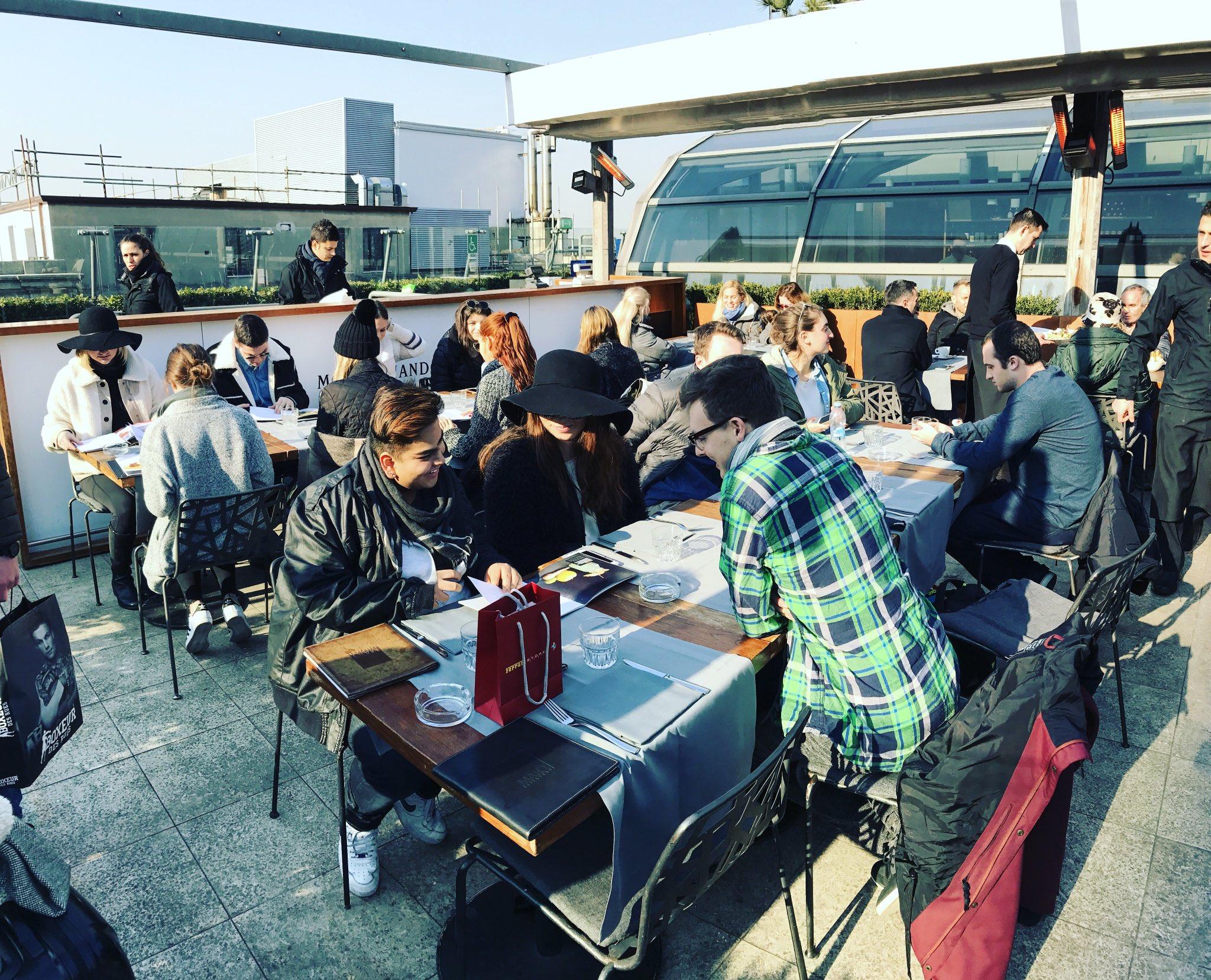 Rooftop restaurants are pretty cool #UDAbroad @UDGlobal @UDelaware @JohnCabotRome #Milan https://t.co/nHuNl0y9Yg
