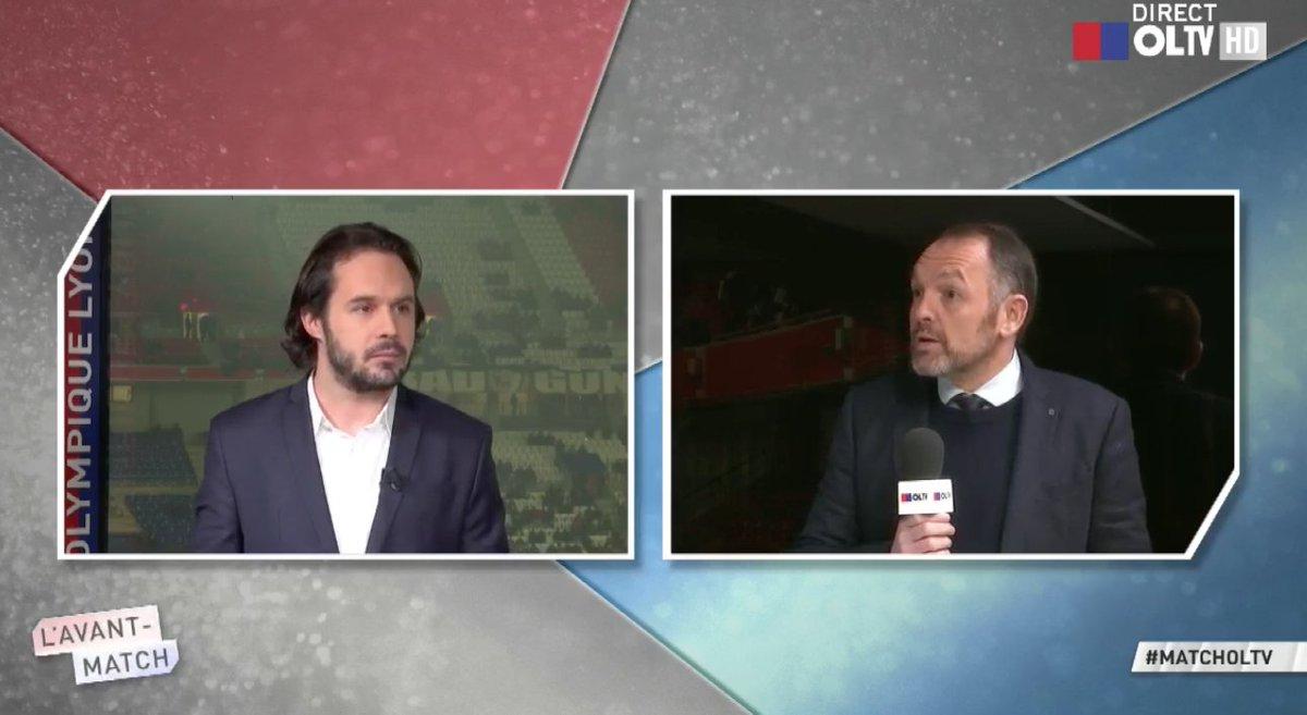 Stéphane #Guy est en plateau aux côtés de @bvannetzel #matchOLTV #OLOM @canalplus<br>http://pic.twitter.com/6we98heLTc