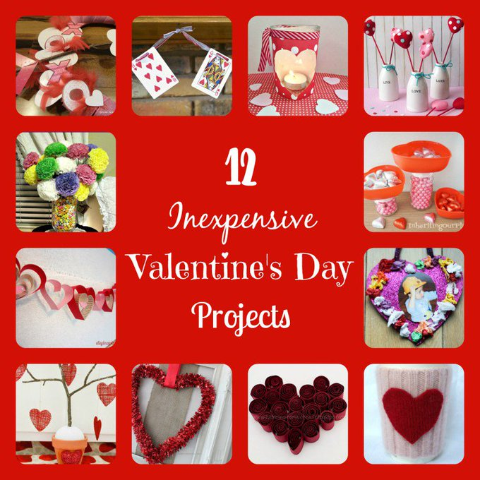 12 Inexpensive Valentine's Day Projects