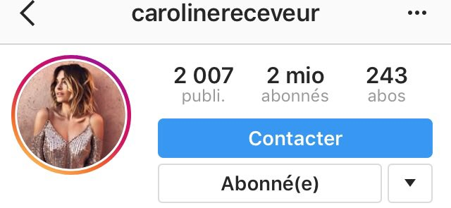 .@caroreceveur passe la barre des 2 millions d&#39;abonnés sur #Instagram ! <br>http://pic.twitter.com/mNfNCZPsyy