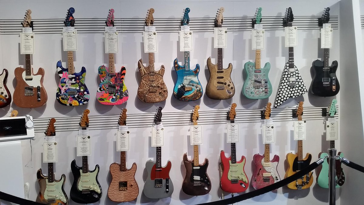 Do any of these finishes strike a chord with you?  #FenderNAMM #NAMM20...