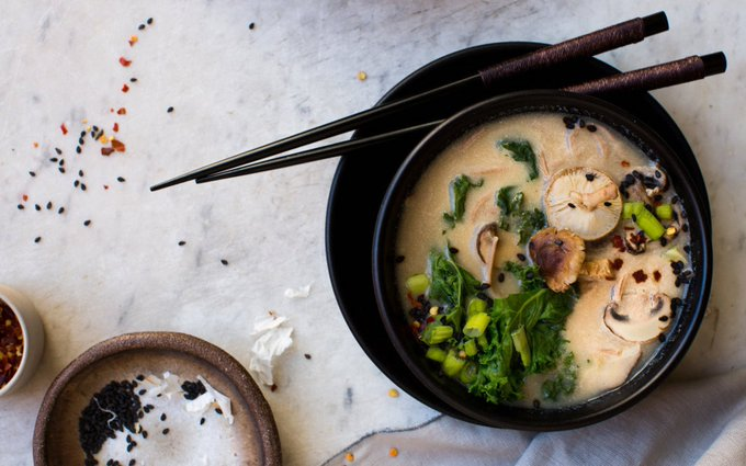 Miso Soba Soup With Mushrooms [Vegan, Gluten-Free]