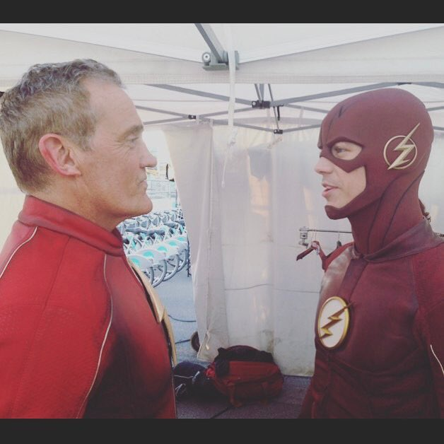 "Jan 22: Grant Gustin\s IG (3) ""Happy Birthday to the OG.\"" w/ John Wesley Shipp"