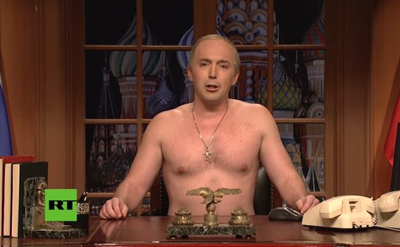 #SNL doesn&#39;t mince words in their #VladimirPutin inspired takedown of #DonaldTrump! Watch!!  https:// goo.gl/UR4xRG  &nbsp;  <br>http://pic.twitter.com/JlsVJFNXaS