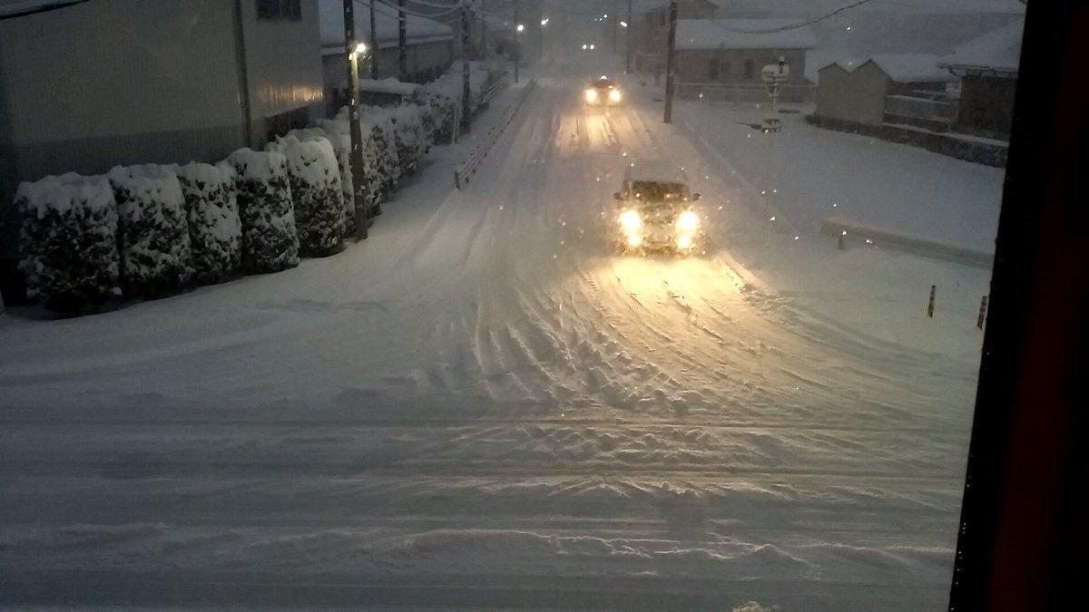 京都市内に大雪警報が発表されていますが ここで、滋賀県彦根市の現在の様子を見てみましょう。