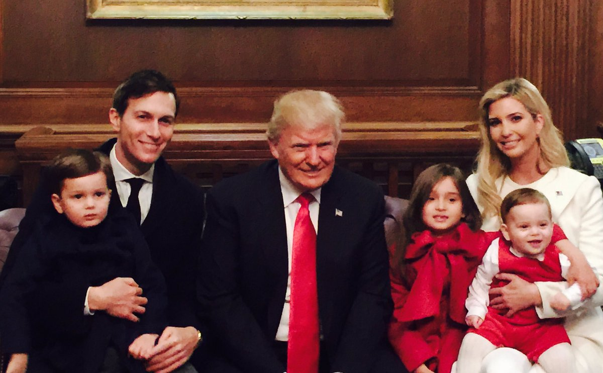 Family photo moments after my father @realDonaldTrump was sworn in as the 45th President of the United States.